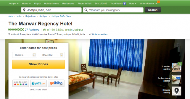 #1 Bed and Breakfast Hotel in Jodhpur